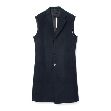 LC23 | Navy Vest Coat - Concrete