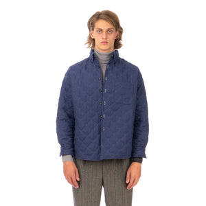 LC23 | Quilted Shirt Jacket Navy - Concrete