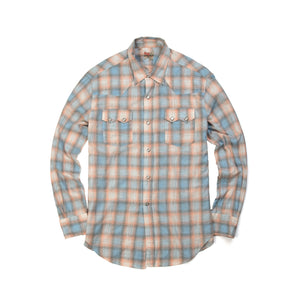 Levi's Vintage Clothing 1950's Western Wear Check Shirt - Concrete
