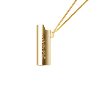 AMBUSH | Logo Lighter Case Necklace Gold - Concrete