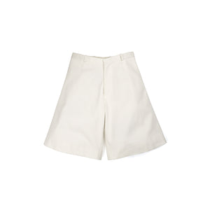 Lou Dalton | Tripple Seam Wide Leg Shorts White Denim - Concrete