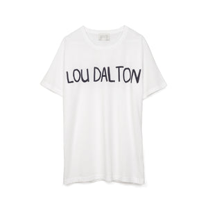 Lou Dalton Hand Drawn T-Shirt White/Navy