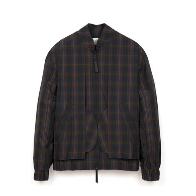 Lou Dalton Exposed Pocket Blouson Brown Check