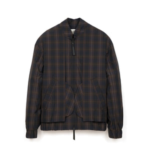 Lou Dalton | Exposed Pocket Blouson Brown Check - Concrete