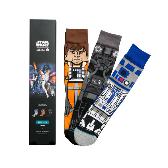 Stance | x Star Wars 'A New Hope' 3-Pack Black - Concrete
