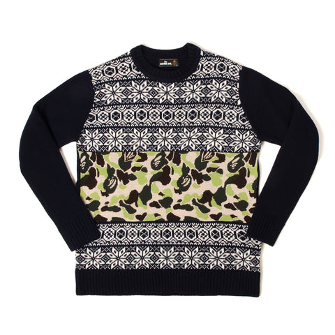 Mr. Bathing Ape ABC Jacquard Knit Navy - Concrete