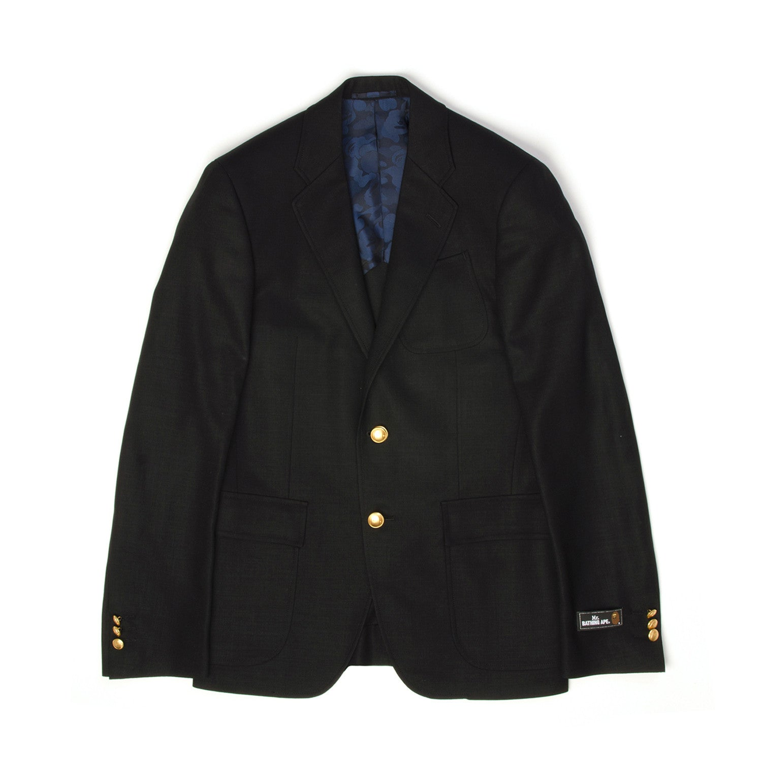 Mr. Bathing Ape 2 Button Blazer Navy - Concrete