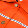 Museum of Friendship Short Oversized Waterproof Jacket Orange