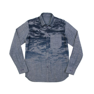 MHI Camouflage Shirt Chambray - Concrete