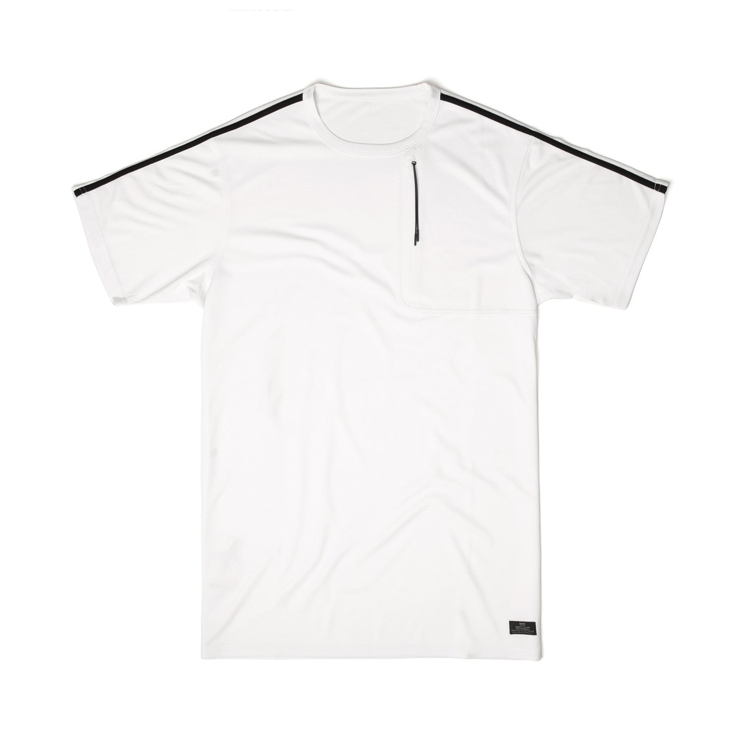 MHI Coolmesh Mid Slouch T-Shirt White - Concrete