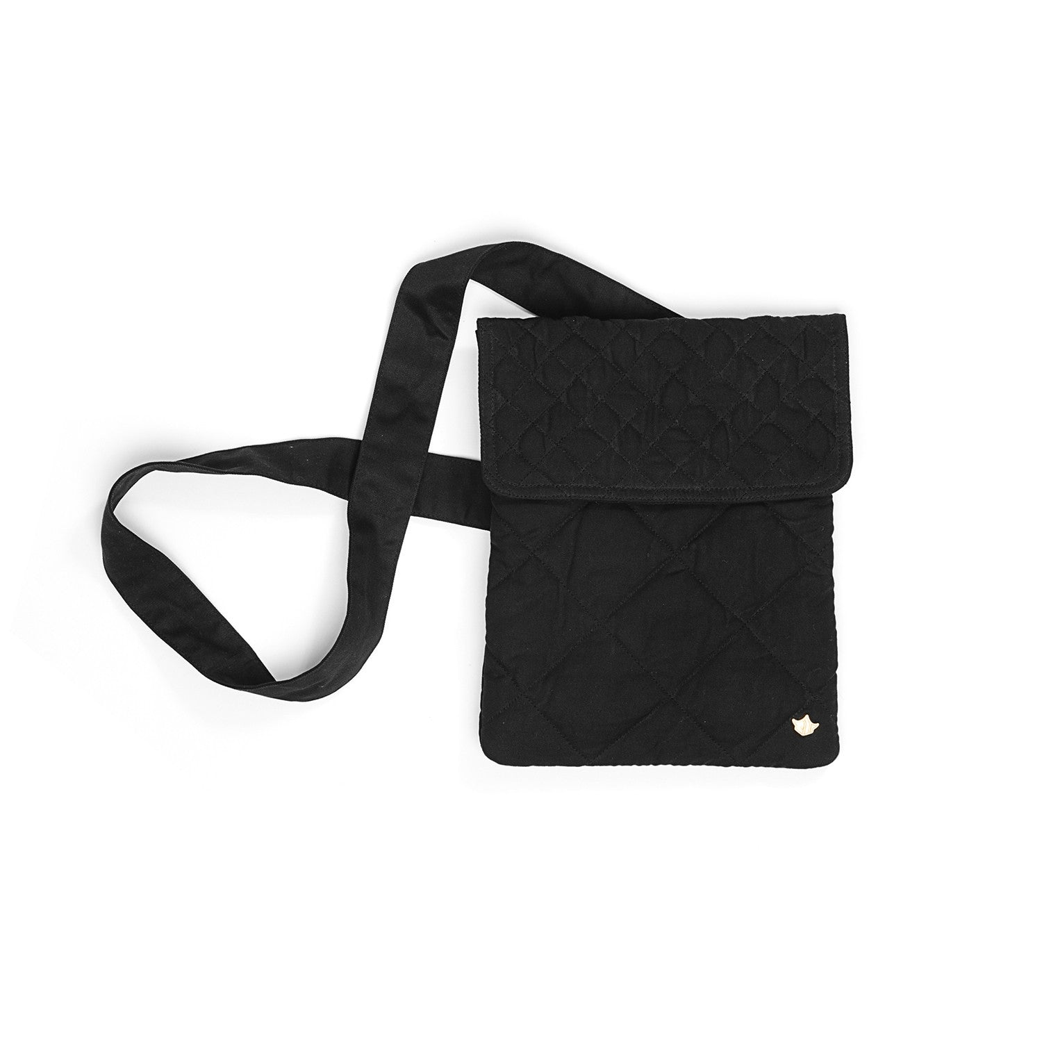 Maharishi Quilted Ipad Bag Black - Concrete