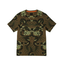 Load image into Gallery viewer, maharishi Pixel Panther Slouch T-Shirt Maha Olive - Concrete