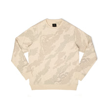 將圖像加載到畫廊查看器中maharishi Hex Crew Sweat Afghan Cream - Concrete