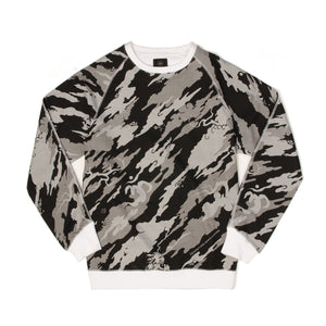 maharishi | Camo Crew Sweat Black/White - Concrete