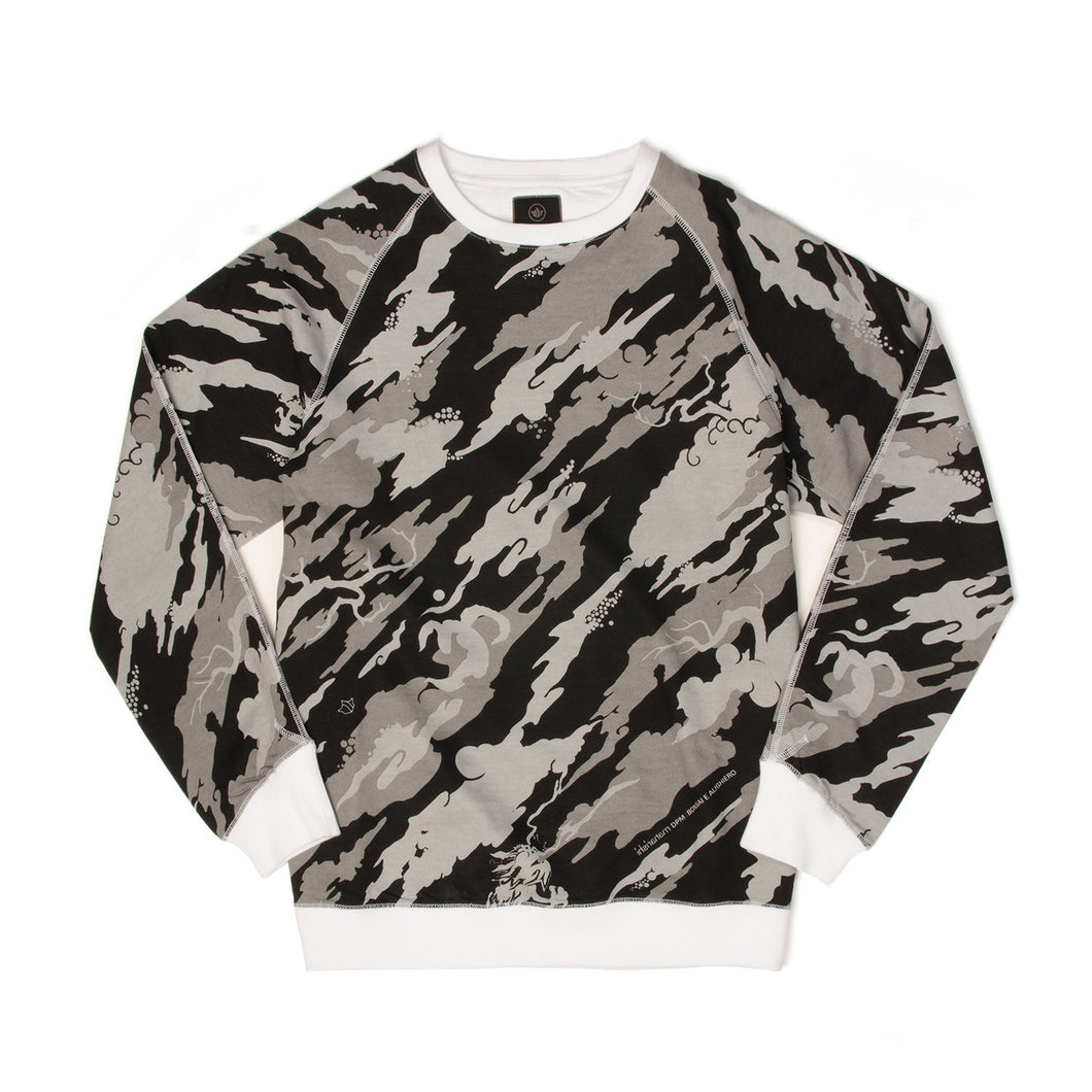 maharishi Camo Crew Sweat Black/White - Concrete