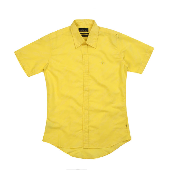 Maharishi Official S/S Blind Shirt Sun Yellow - Concrete