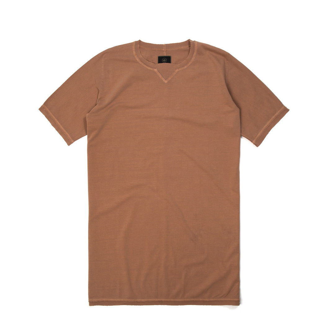 maharishi | Raw Cross Long T-Shirt Golden Brown - Concrete