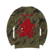 Load image into Gallery viewer, maharishi Camo Red Tiger Crew Sweat Woodland