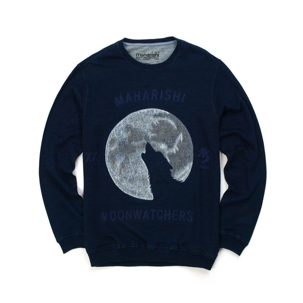 maharishi | Crew Sweat Moonwatcher Indigo Marl - Concrete