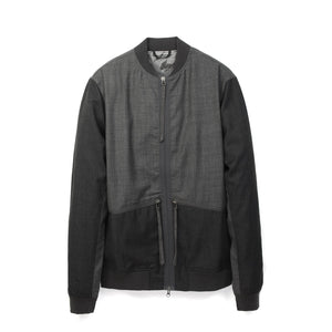maharishi | Official Short Flight Jacket Charcoal - Concrete