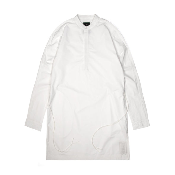 maharishi | Long Kurta Shirt Optic White - Concrete