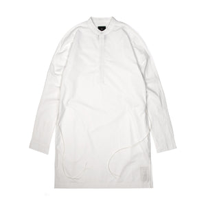 maharishi Long Kurta Shirt Optic White - Concrete