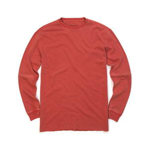 maharishi | Zip Off Oversized Crew Sweat Terracotta - Concrete