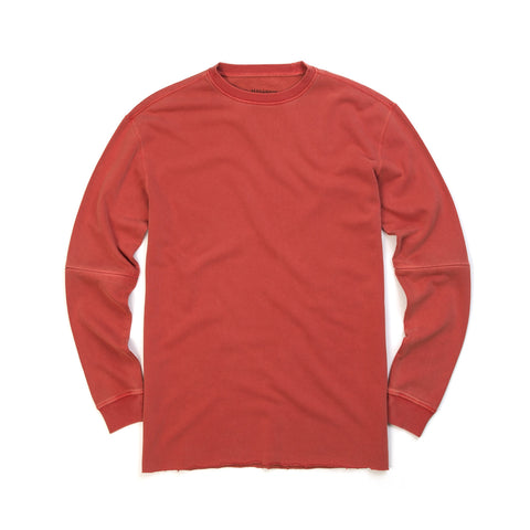 maharishi Zip Off Oversized Crew Sweat Terracotta