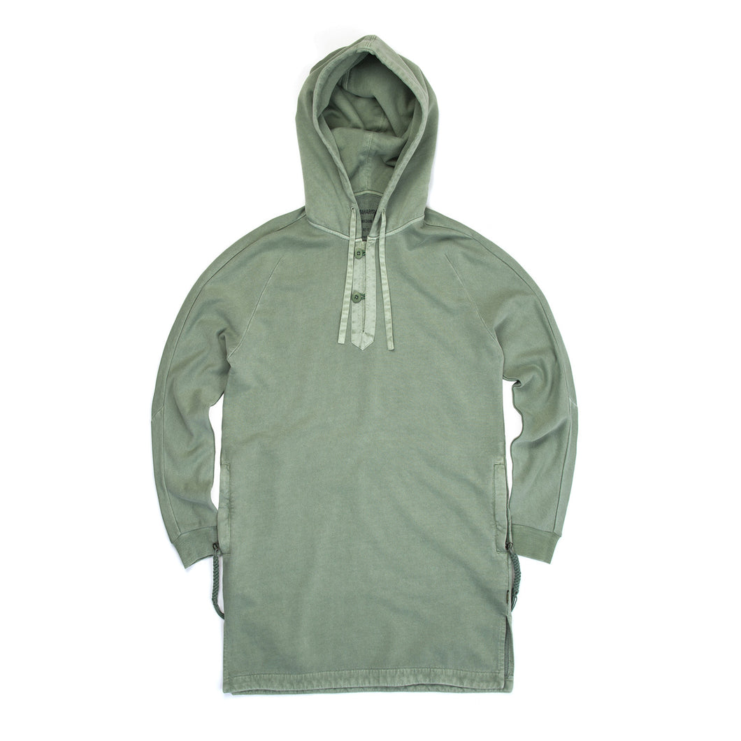 maharishi | Mid Djellaba Hooded Sweat Patina - Concrete