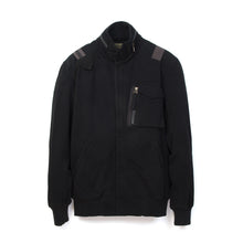 Load image into Gallery viewer, Maharishi Web Fly F65 Sweat Jacket Black - Concrete