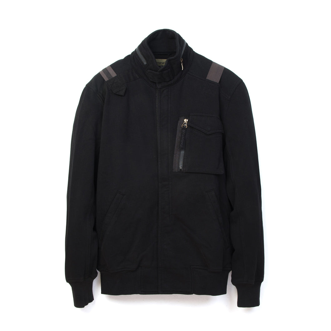 Maharishi Web Fly F65 Sweat Jacket Black - Concrete