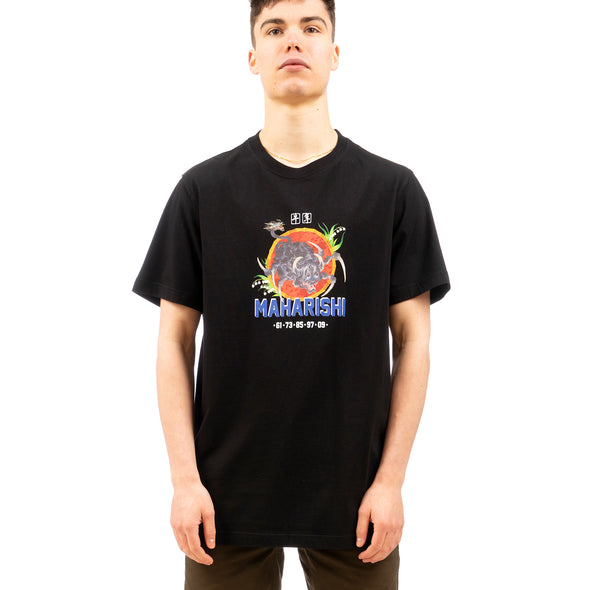 maharishi | 9307 Year Of The Spider Ox T-shirt Black - Concrete