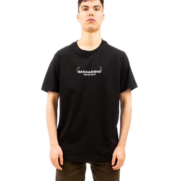maharishi | 9308 Ushi-Oni Year Of The Ox T-shirt Black - Concrete