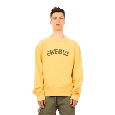 maharishi | 2021 Erebus U.S. Crew Sweat Yellow - Concrete