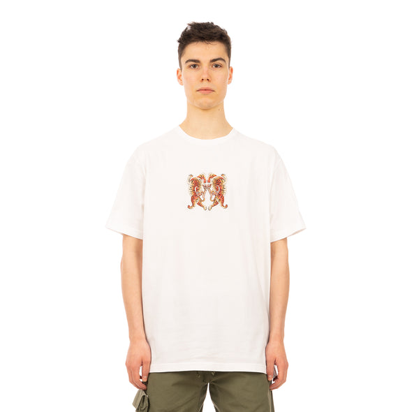 maharishi | 2063 Hearts Of Tigers T-Shirt White - Concrete