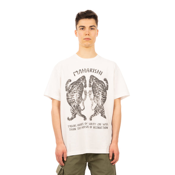maharishi | 2073 Tigers Of Wrath T-Shirt White - Concrete
