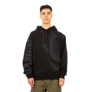 maharishi | 2066 Tonal Tiger Hooded Sweat Black-108FF - Concrete