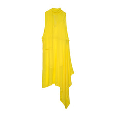 Load image into Gallery viewer, Marios Asymmetric Dress + Under Vest Yellow