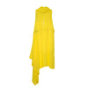 Marios Asymmetric Dress + Under Vest Yellow