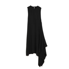 Load image into Gallery viewer, Marios Asymmetric Dress w/ Seperate Sleeves Black - Concrete