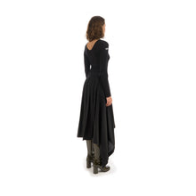 Load image into Gallery viewer, Marios Asymmetric Skirt w. Plisse Black