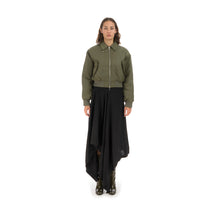 Load image into Gallery viewer, Marios Bamboo Twill Aviator Jacket Green - Concrete