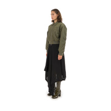 Load image into Gallery viewer, Marios Bamboo Twill Aviator Jacket Green