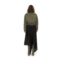 將圖像加載到畫廊查看器中Marios Bamboo Twill Aviator Jacket Green