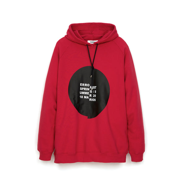Marios Errorist Fleece Hoodie Red