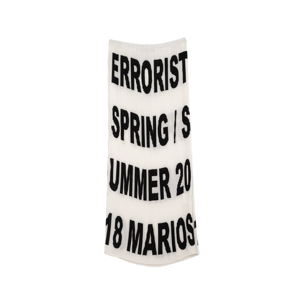 Marios Errorist Gonna Plisse Skirt Black/White