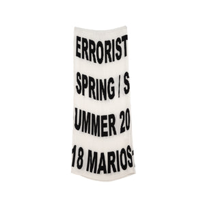 Marios Errorist Gonna Plisse Skirt Black/White - Concrete