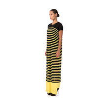 Afbeelding in Gallery-weergave laden, Marios W Striped Sleeveless Long Dress Black/Yellow