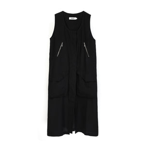Marios W Sleeveless Parka Dress Black - Concrete