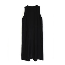 將圖像加載到畫廊查看器中Marios W Sleeveless Parka Dress Black - Concrete